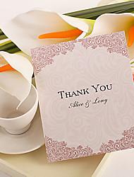 Merci Cartes Invitations de mariage Carte plate Personnalisé