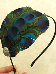spectaculaire plume de paon maigre bandeau