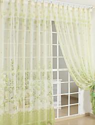 anti ™ dois painéis país cortinas diáfanas cortinas de impressão verde