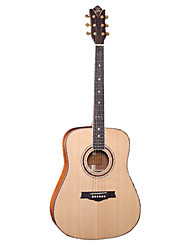 "Ella 41"" Solid Red Cidar Top Solid Sapelle Side&Back Wood Binding D'Addario String Master Grade Acoustic Guitar"