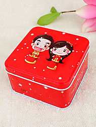 Chinese Pair Red Favor Tin (Set of 6)