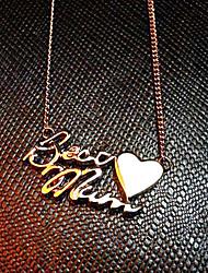 14k collier d'or maman meilleure (2.2x1cm)
