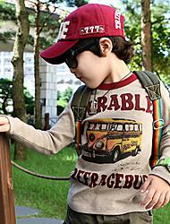 автобус печати детские с длинным рукавом футболки