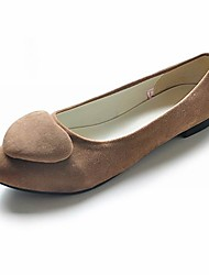 Suede Closed Toe Flats With Heart (More Colors)