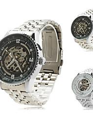 Men's Alloy Analog Mechanical Wrist Watch (Sliver)