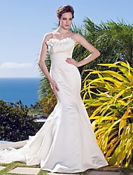 Lanting Bride Trumpet/Mermaid Petite / Plus Sizes Wedding Dress-Sweep/Brush Train