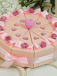 Delightfully Pink Cake Favor Box (Set of 10)