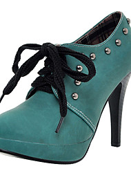 Leatherette Stiletto Party/Evening Ankle Boots With Rivets (More Colors)