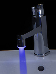 Color Changing LED  A Grade ABS Chrome Finish Faucet Sprayer Nozzle(Universal Compatibility)