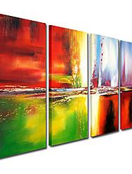Peint à la main Abstrait Quatre Panneaux Toile Peinture à l'huile Hang-peint For Décoration d'intérieur