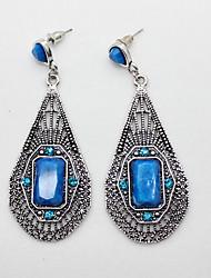 gemstone boêmios brincos azuis