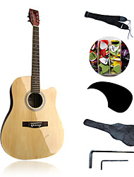 """41"""" Acousitc Guitar Package Plywood-Linden Original-Lacquer"""