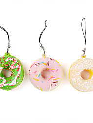 Sweet Smelling Donut Shaped Keychain (Assorted Colors)