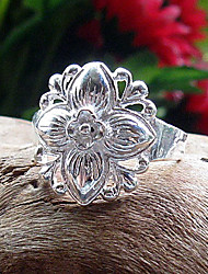 Chinese Vintage Flower Ring