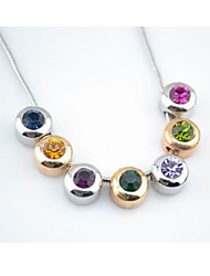 Women's Rainbow Crystal Necklace