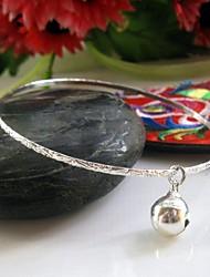 bracelet argent petite cloche mince