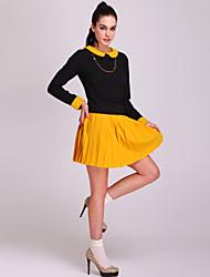 simplicidade ts vestido pregas (mais cores)