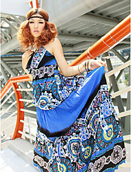 V-neck Polyester Maxi Dress