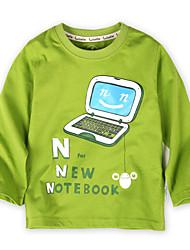 Notebook Print Thin Long Sleeve T-Shirt