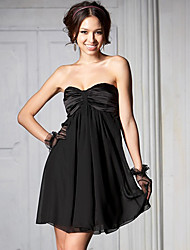 A-line Strapless Sweetheart Neck Date Night Mini Dress (More Colors)