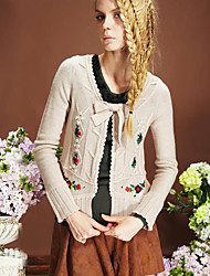Embroidery Flower Thick Sweater