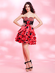 A-line Sweetheart Short/Mini Charmeuse Cocktail/Prom Dress