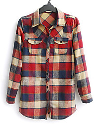 Rustic Checkered Button-down Shirt