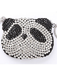 Crystal/Rhinestone Panda Mini Bag/Clutch
