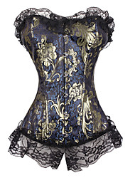 Brocade Front Bust Closure Corset With Boning (More Colors) Sexy Lingerie Shaper