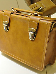 Retro Square Box Two Buckles Cross-body Bag(26cm*8cm*17cm)