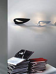 Artistic LED Wall Light with 1 Light in White