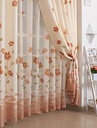 olga clássicas cortinas de janela (dois painéis)