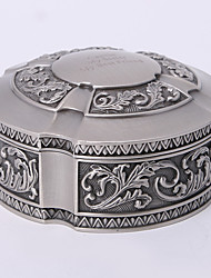 Personalized Vintage Tutania Round Jewelry Box