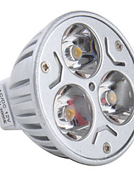 3W GU5.3(MR16) LED Spotlight MR16 3 High Power LED 270 lm Warm White DC 12 V