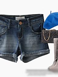 гофрированные Жан коротких штанишках