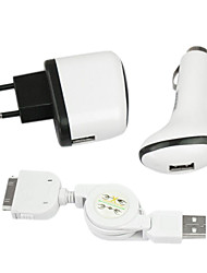 поездки автомобиль зарядное устройство для iphone 4s/4/3gs/3g