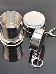 portátil de acero inoxidable copa de acero retráctil