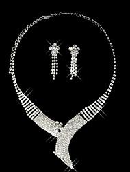 """set di gioielli strass belle signore di stile cinese """"(45 cm)"""