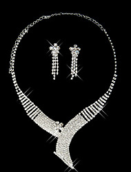 Beautiful Rhinestone Chinese Style Ladies' Jewelry Set (45 cm)