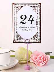 Personalized Table Number Card - Vintage
