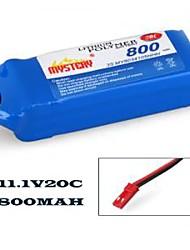 misterio 800mah 20c 11.1v 3S1P Lipoly batería para lama (my08203)