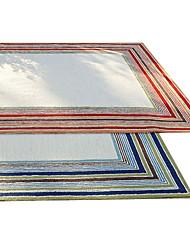 acrylique tapis tufté avec motif de rayure 4 '* 6'