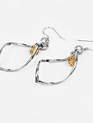 Zirkon Sterling Silber schimmernde Damen-Ohrring