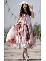 Chiffon trägerloses Sommerkleid Mini