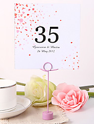 Place Cards and Holders Personalized Square Table Number Card - Flower Rain