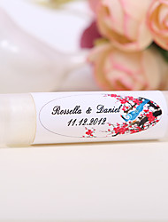 Personlized Lip Balm Tube Favors - Traditional Chinese Painting (Set of 12)