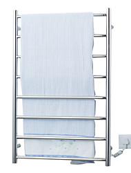 70w elegância de parede em aço circular warmmer toalha tubo de secagem cremalheira