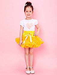 saia garota incrível amarelo com revestimento