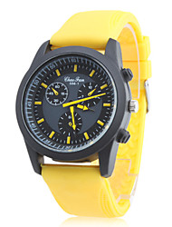 Unisex's Silicone Analog Quartz Wrist Watch (Yellow) Cool Watch Unique Watch
