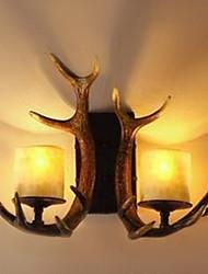 Lampade a candela da parete,Rustico/lodge E12/E14 Resina